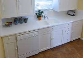 Kitchen Cabinets Salt Lake City by Arctic White Corian Kitchenette Countertop With An Integrated Sink