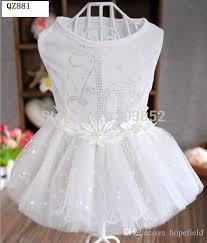 dog wedding dress best chihuahua bridal gown chien summer clothing small dog wedding