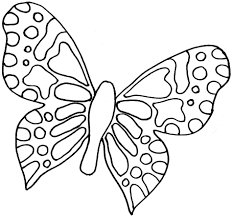 butterfly coloring pages black and white free coloring page