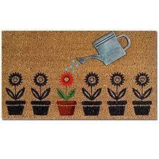 zerbino di cocco zerbino in fibra di cocco fiori 40 x 70 cm antiscivolo con figura