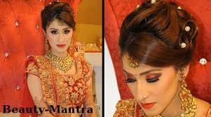 how to put bridal hairstyle indian wedding makeup gorgeous reception look complete hair