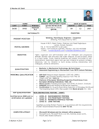 resume format for mechanical cover letter ndt resume sample ndt supervisor resume sample ndt cover letter cover letter template for ndt resume sample fabrication engineer mechanical design automotive mechanic entry