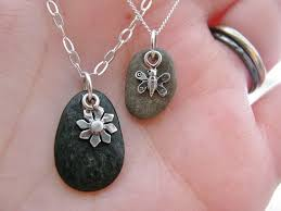 silver rock necklace images River rocks pendant necklace i was wondering how to use these jpg
