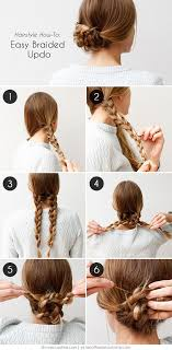 step by step easy updos for thin hair an easy braided hairstyle for any occasion easy braided