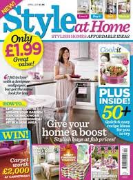 Home Decor Magazines British Diy Decorating Magazine Style At Home Launches Popsugar Home