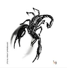 3d terror scorpion waterproof big size temporary neck