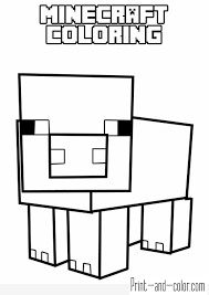 minecraft coloring pages print and color com