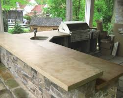 outdoor kitchen countertop ideas 23 best concrete bbq s outdoor bar tops images on