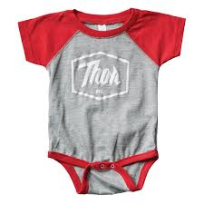 infant motocross gear thor baby body supermini script red maciag offroad