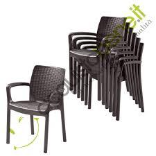 sedie usate napoli poltrona sedie giardino in resina effetto rattan keter bali mono