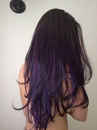 weave hairstyles with purple tips black hair purple tips tumblr google search hair pinterest