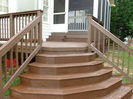 Exterior Stair Railing by Wood Deck Stairs Designs Wood Deck Stair Railing Ideas Home Stair