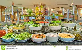 Buffet Salad Bar by Salad Buffet In A Luxury Hotel Restaurant Royalty Free Stock