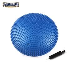 fitness inflated stability wobble point massage cushion yoga