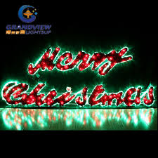 china large 2m led merry sign motif led green rope