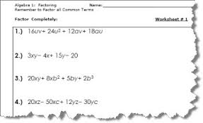 collection of solutions factorising algebra worksheets on cover
