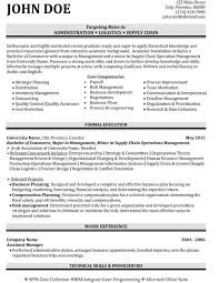 Military Resume Samples by Supply Chain Resume Samples Sample Professional Military Resume