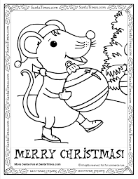 christmas mouse printable coloring page
