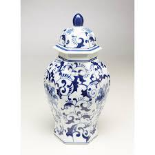 What Is Ginger Jars Blue U0026 White Hexagon Ginger Jar Shop The Franklin Mint Official
