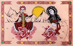 Day of the Dead Tapestry Dorm Unique Colorful Wall Decoration Hang