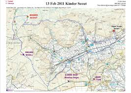 Map Walking Distance Peak Bagging And Long Distance Walking In The Uk Kinder Scout