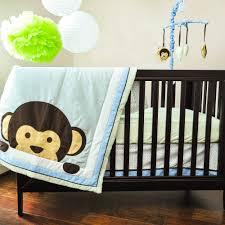 pam grace creations maddox monkey 10 piece crib bedding set