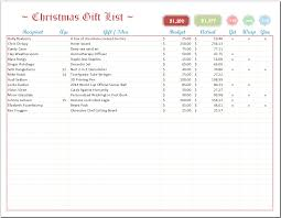 Requirements Spreadsheet Template Excel Christmas List Template