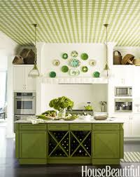 kitchen mesmerizing colorful kitchen cabinets green gingham