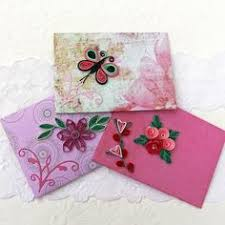 gift cards for small business paper quilling envelopes mini small gift card holder quilled owls
