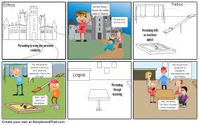 example of pathos ethos and logos storyboard by philrodriguez