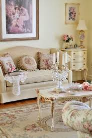 awesome shabby chic living room interior design beige white floral