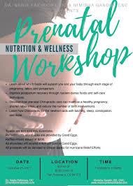 prenatal nutrition and wellness workshop tickets sat oct 21
