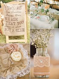 burlap wedding rustic chic lace and burlap wedding ideas and supplies