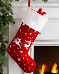 Hot Spring Bargains on Santa Sleigh Christmas Stocking Red White