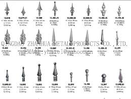 ornament wrought iron fence spear point view fence spear point