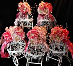 Cinderella Carriage Centerpieces by Bridal Shower Centerpieces Birthday Fairy Tale Wedding Or
