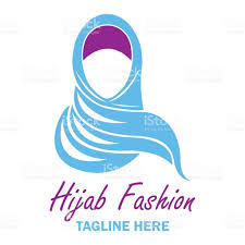gulf logo vector hijab icon with text space for your slogan tag line vector
