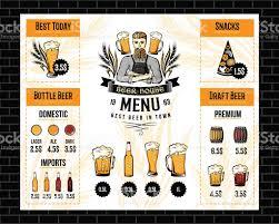 beer bar menu template stock vector art 597973450 istock