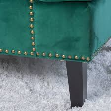 amazon com geneva velvet dark green single sofa accent chair