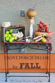 Home Decor For Fall - front porch decor for fall bd design blog classy clutter