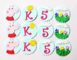 edible party favors peppa pig cupcake toppers 12pcs edible fondant birthday party