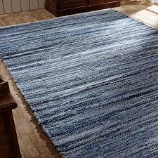 Hemp Area Rugs Denim And Hemp Chindi Rag Rectangle Area Rug Shades Of Blues