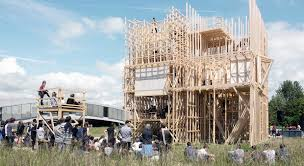 collaboratively builds balloon frame timber u0027house u0027 in lausanne