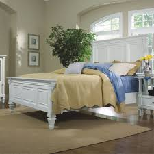 ashby wood panel bed in white humble abode