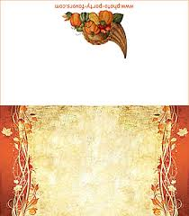 free printable folding thanksgiving swirling leaves place cards