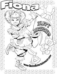 coloring page fiona the clown airbrush tattoos parties i