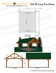 16x20 floor plans 16x20 log pavilion meadowlark log homes