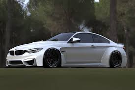 bmw m4 widebody liberty walk bmw m4 1 kit frp lb works fiberglass complete