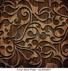 stock illustrations of carved wooden pattern carved ornament on