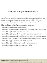 Resume Affiliate Manager Top8costmanagerresumesamples 150520140408 Lva1 App6891 Thumbnail 4 Jpg Cb U003d1432130702
